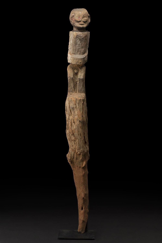Africa    Bocio - Fon/Nago People - Benin  , Early 20th C. Wood 49 x 6.25 x 5.25 inches 124.5 x 15.9 x 13.3 cm Af 405