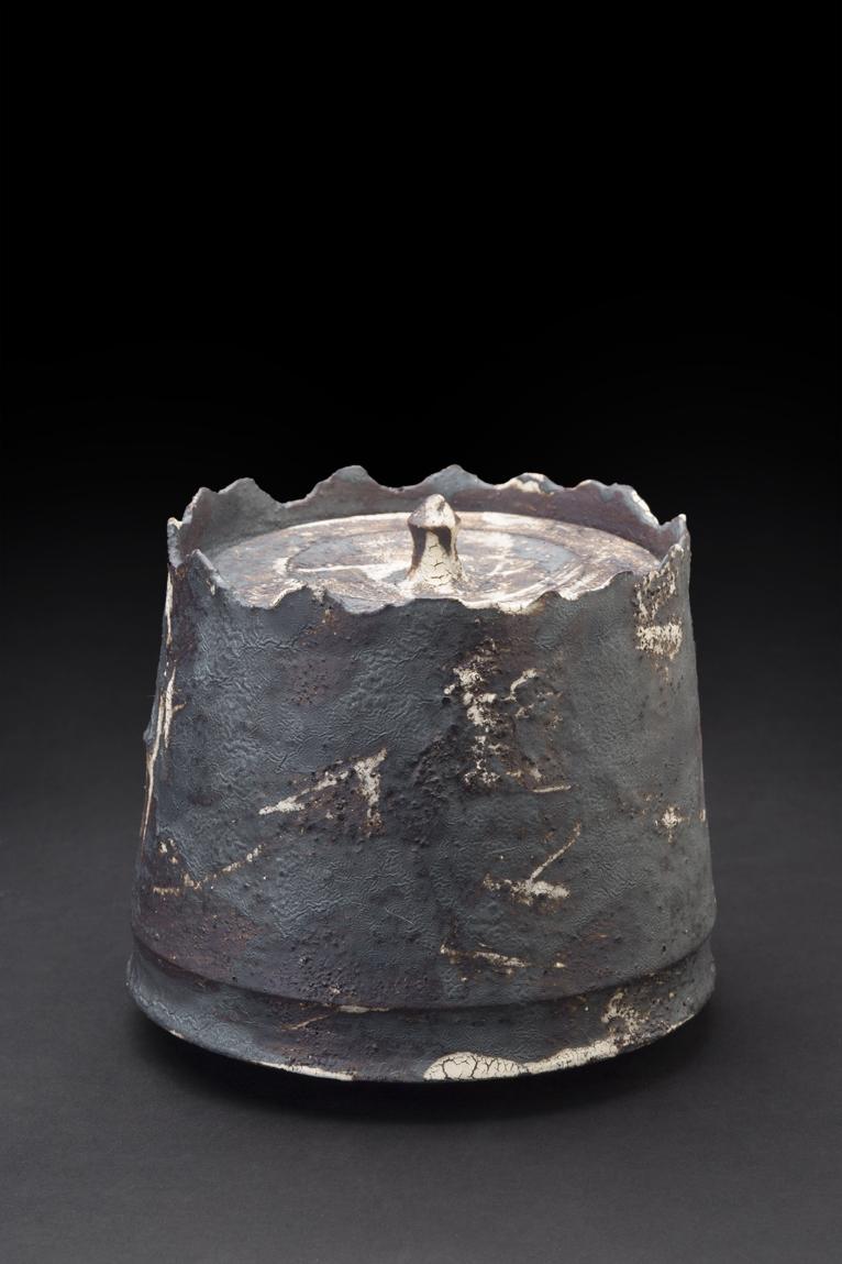 Akihiro Nikaido    Mizusashi  , 2015 Ceramic 4.5 x 5.5 x 5.5 inches 11.4 x 14 x 14 cm ANk 10