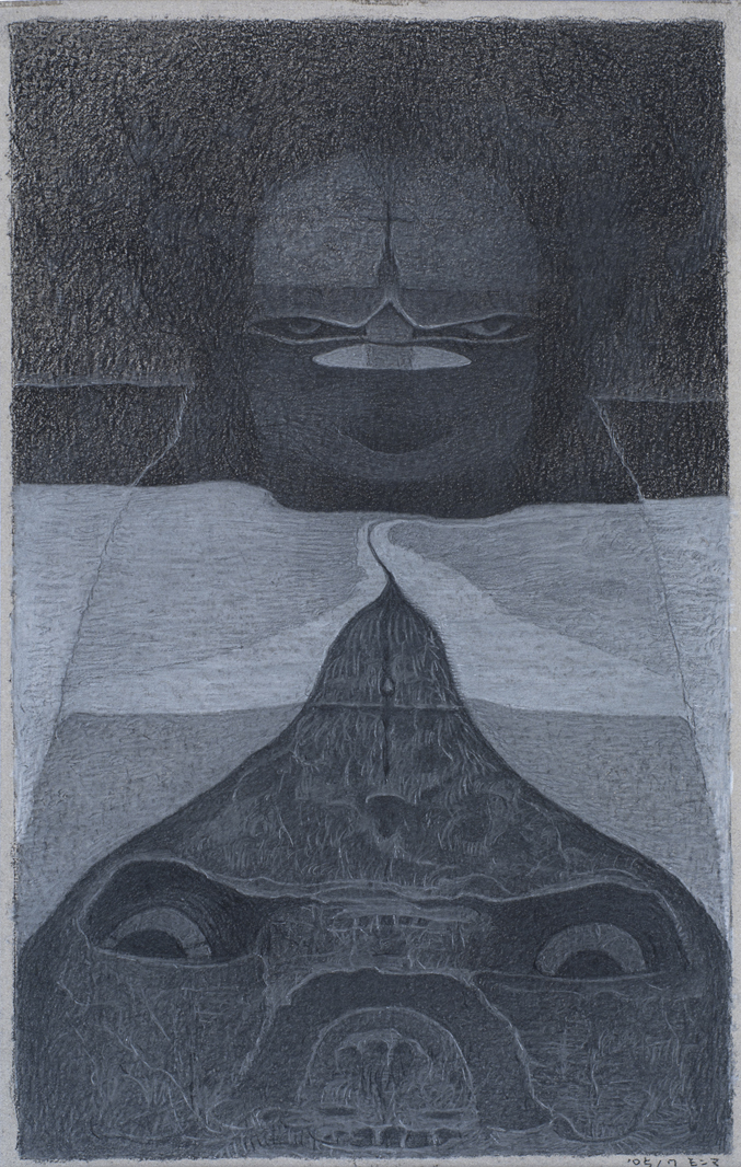 M'onma    Untitled  , 2005 Graphite, conte on paper 11.02 x 6.89 inches 28 x 17.5 cm IMo 16