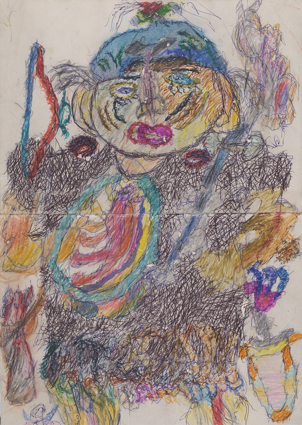 Ilya Natarevich    Spartacus  , 2015 Ink, marker, crayon on paper 18.5 x 13.25 inches 47 x 33.7 cm INa 3