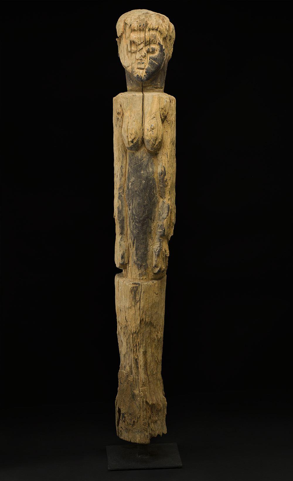 Africa    Bocio - Ewe People - Togo  , Early 20th C. Wood 59.5 x 8 x 8 inches 151.1 x 20.3 x 20.3 cm Af 335