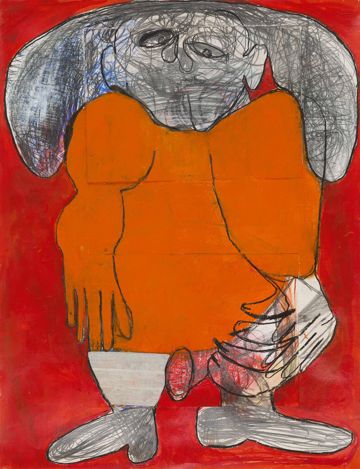 Caroline Demangel    Untitled  , 2014 Mixed media on paper 25 x 19 inches 63.5 x 48.3 cm CDm 10