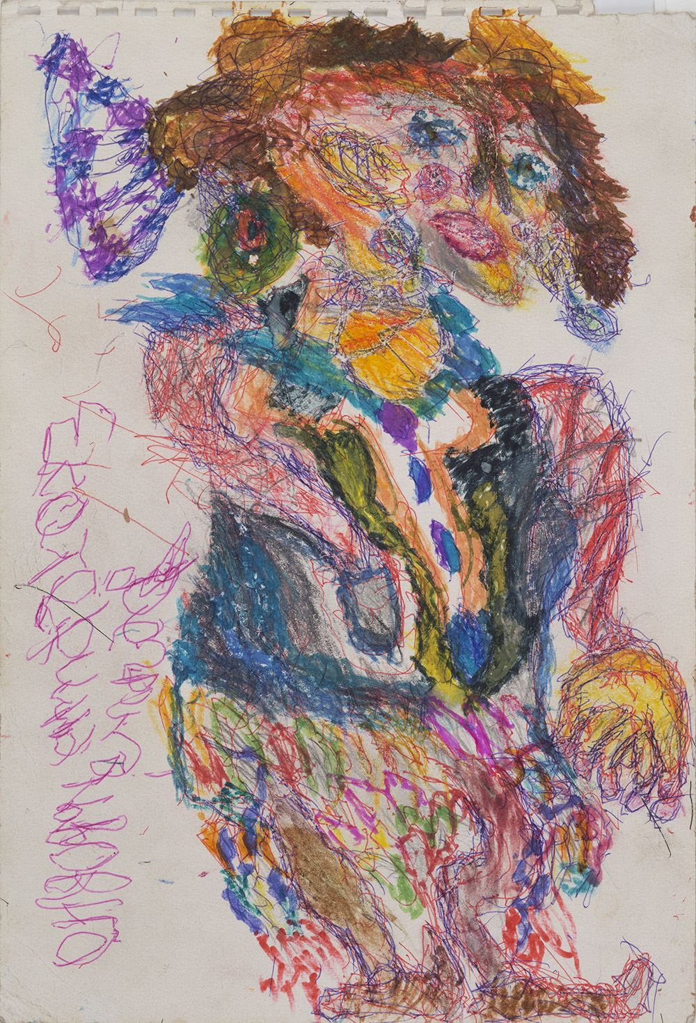 Ilya Natarevich    Untitled  , 2015 Ink, graphite, crayon on paper 15 x 10.25 inches 38.1 x 26 cm INa 10