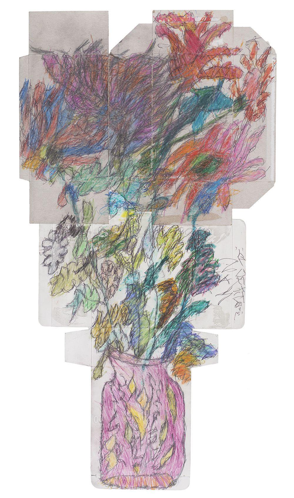 Ilya Natarevich    Untitled  , 2015 Ink, crayon, graphite on cardboard 28.25 x 15 inches 71.8 x 38.1 cm INa 12