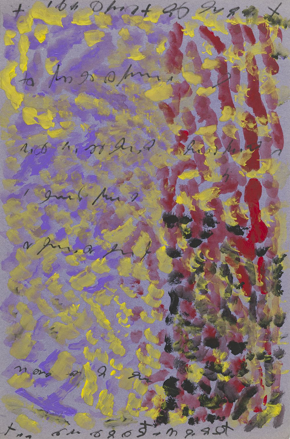 J.B. Murray    Untitled  , c. 1978-1988 Tempera paint and marker on paper 18 x 12 inches 45.7 x 30.5 cm JBM 533