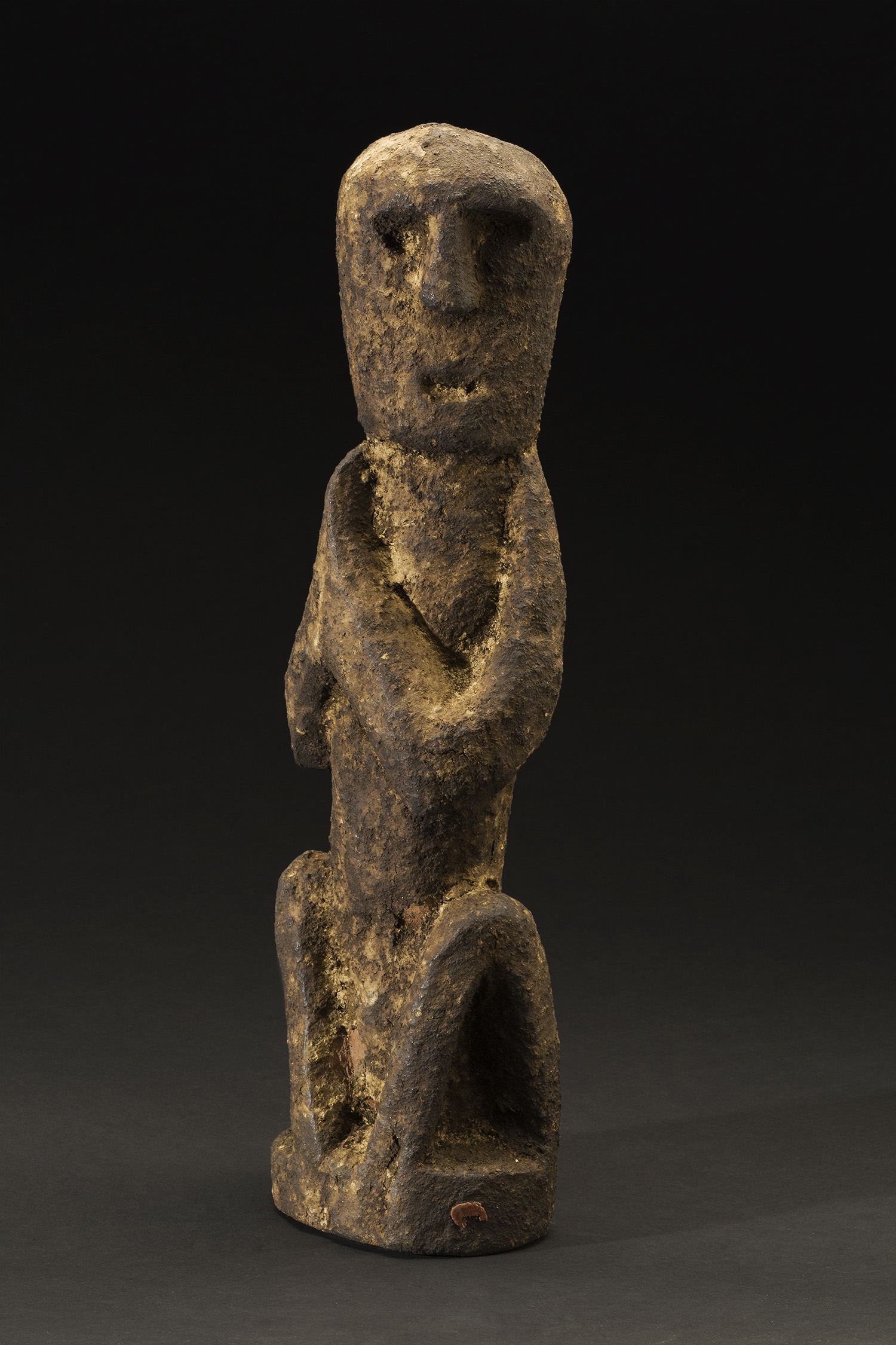 Nepal    Shrine Figure  , Mid. 20th C. Wood 15.5 x 4.5 x 3.5 inches 39.4 x 11.4 x 8.9 cm Nep 54
