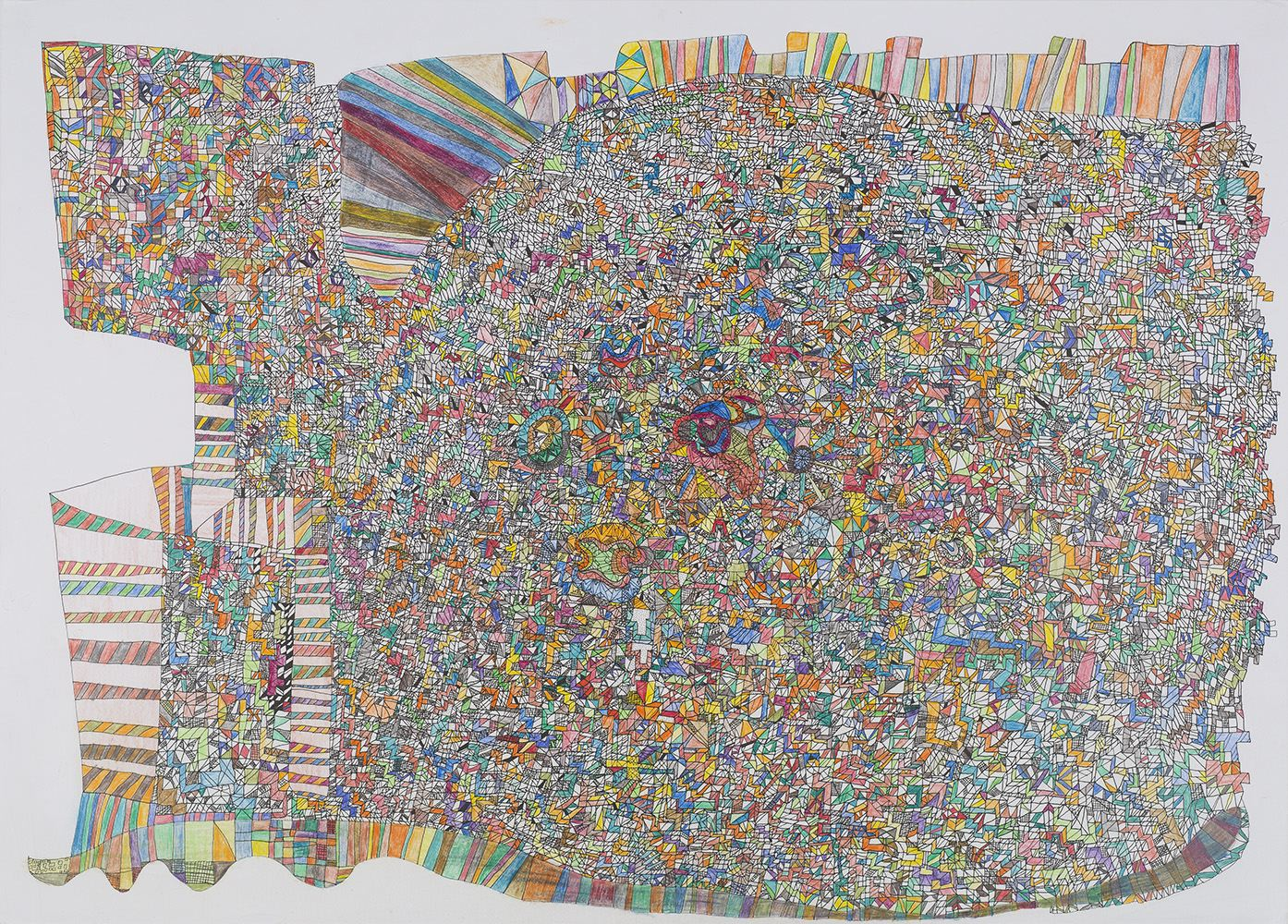Paul Kai Schröder    Untitled  , 2014 Crayon and ink on paper 19.5 x 27.5 inches 49.5 x 69.9 cm PKS 1