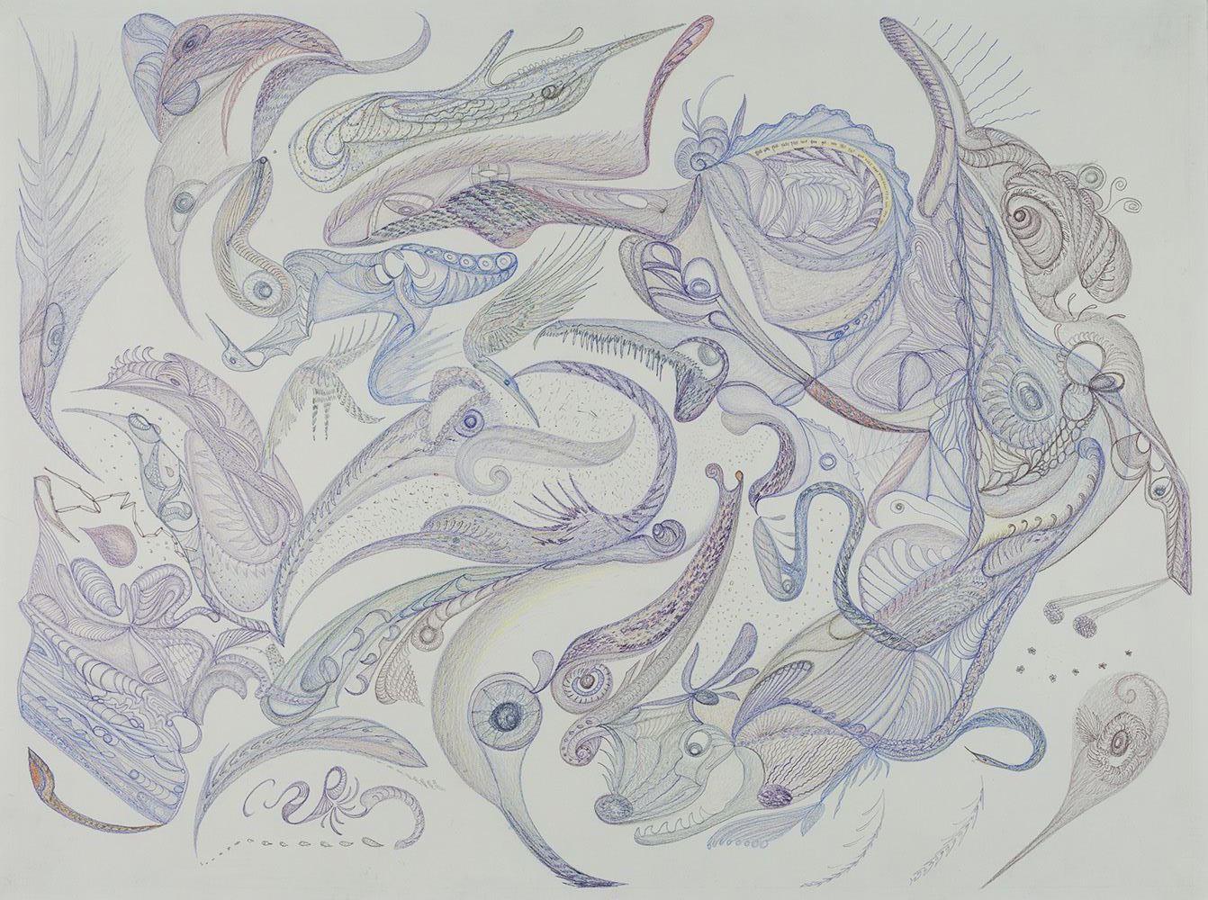 Zinnia Nishikawa    Untitled  , 2013-2015 Colored pencil on paper 18 x 24 inches 45.7 x 61 cm ZNi 1