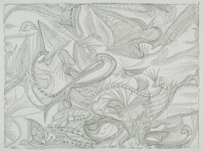 Zinnia Nishikawa    Untitled  , 2013-2015 Graphite on paper 18 x 24 inches 45.7 x 61 cm ZNi 16
