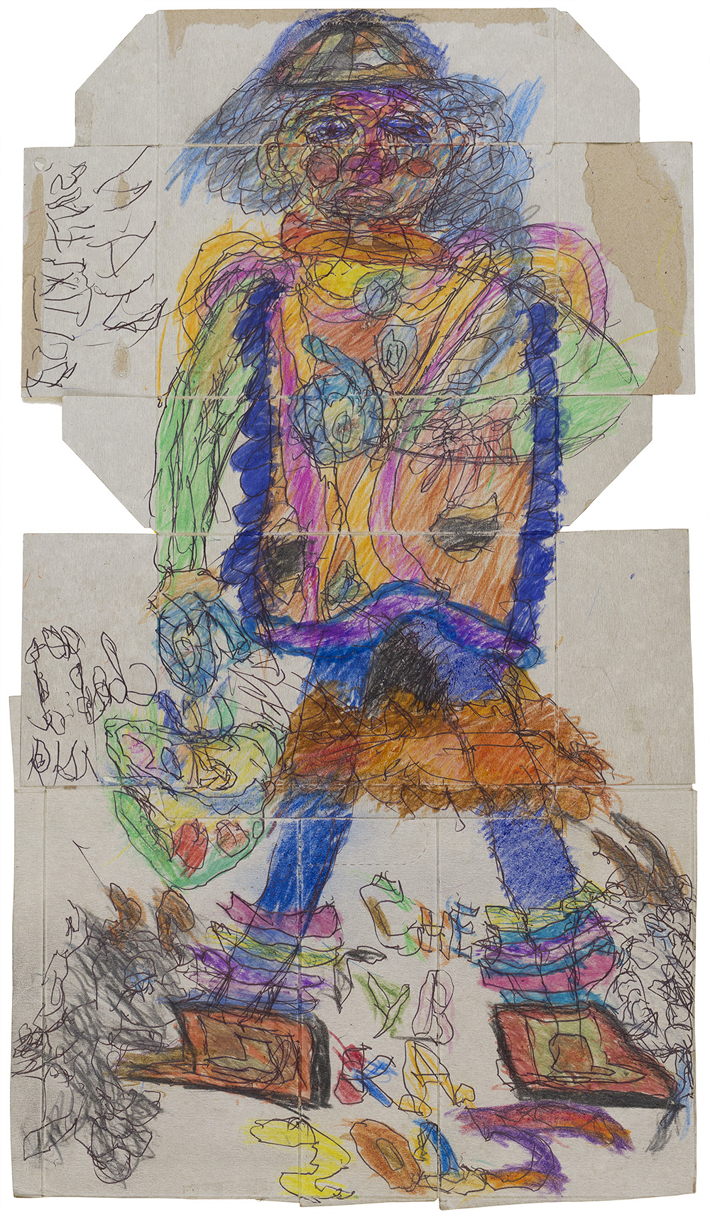 Ilya Natarevich    Snow Maiden  , 2015 Crayon, ball point pen on cereal box 22 x 12.5 inches 55.9 x 31.8 cm INa 16
