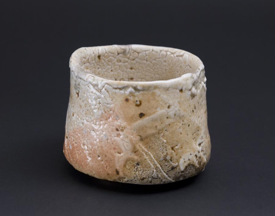 Akira Satake    Chawan  , 2010 Woodfired Ceramic, Shino Glaze 4 x 5 x 5 inches 10.2 x 12.7 x 12.7 cm ASA 8