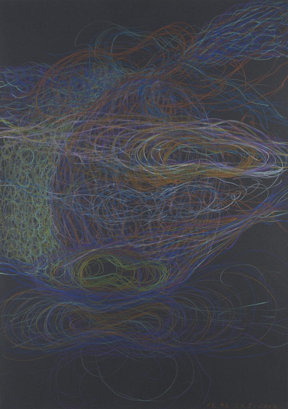 Tomáš Lampar    Untitled  , 2002 Color pencil on paper 16.54 x 11.61 inches 42 x 29.5 cm TLa 10