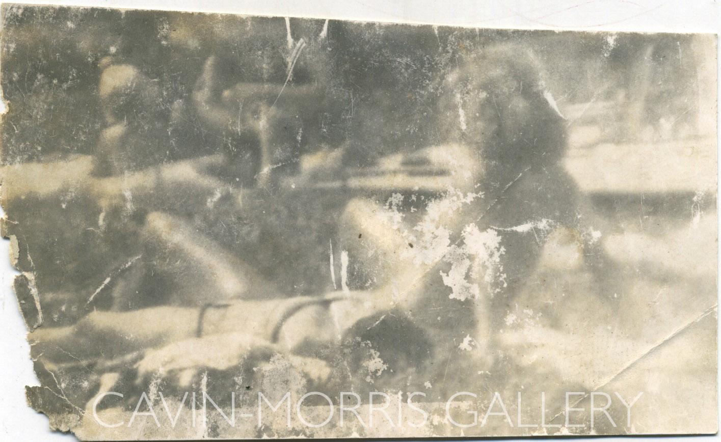 Miroslav Tichý    Untitled  , 1960s-1980s Gelatin silver print 2.9 x 4.7 inches 7.4 x 11.9 cm MTi 18