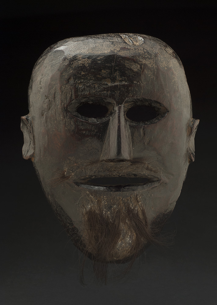 Masks    Nepal  , 19th C. Wood, hair 10 x 8 x 4 inches 25.4 x 20.3 x 10.2 cm M 162s