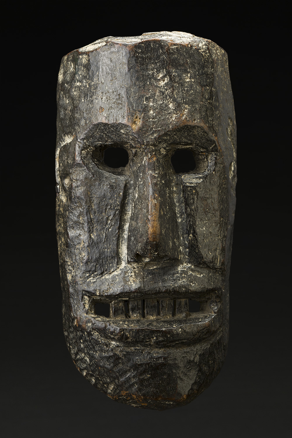 Masks    Nepal  , Early 20th C. Wood 11.75 x 5.75 x 3 inches 29.8 x 14.6 x 7.6 cm M 224s