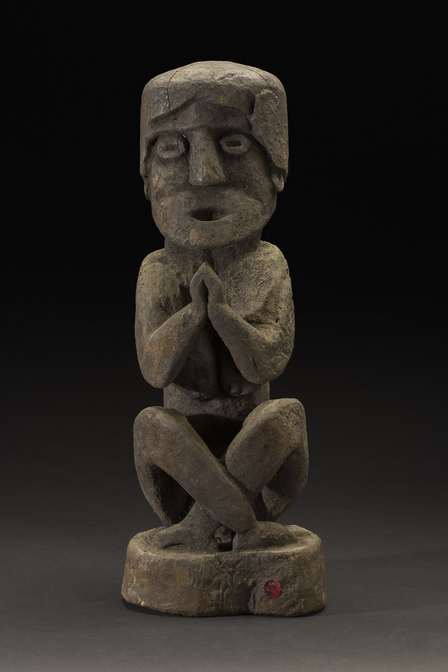 Nepal    Seated figure  , n.d. Wood 16 x 7 x 5.25 inches 40.6 x 17.8 x 13.3 cm Nep 56