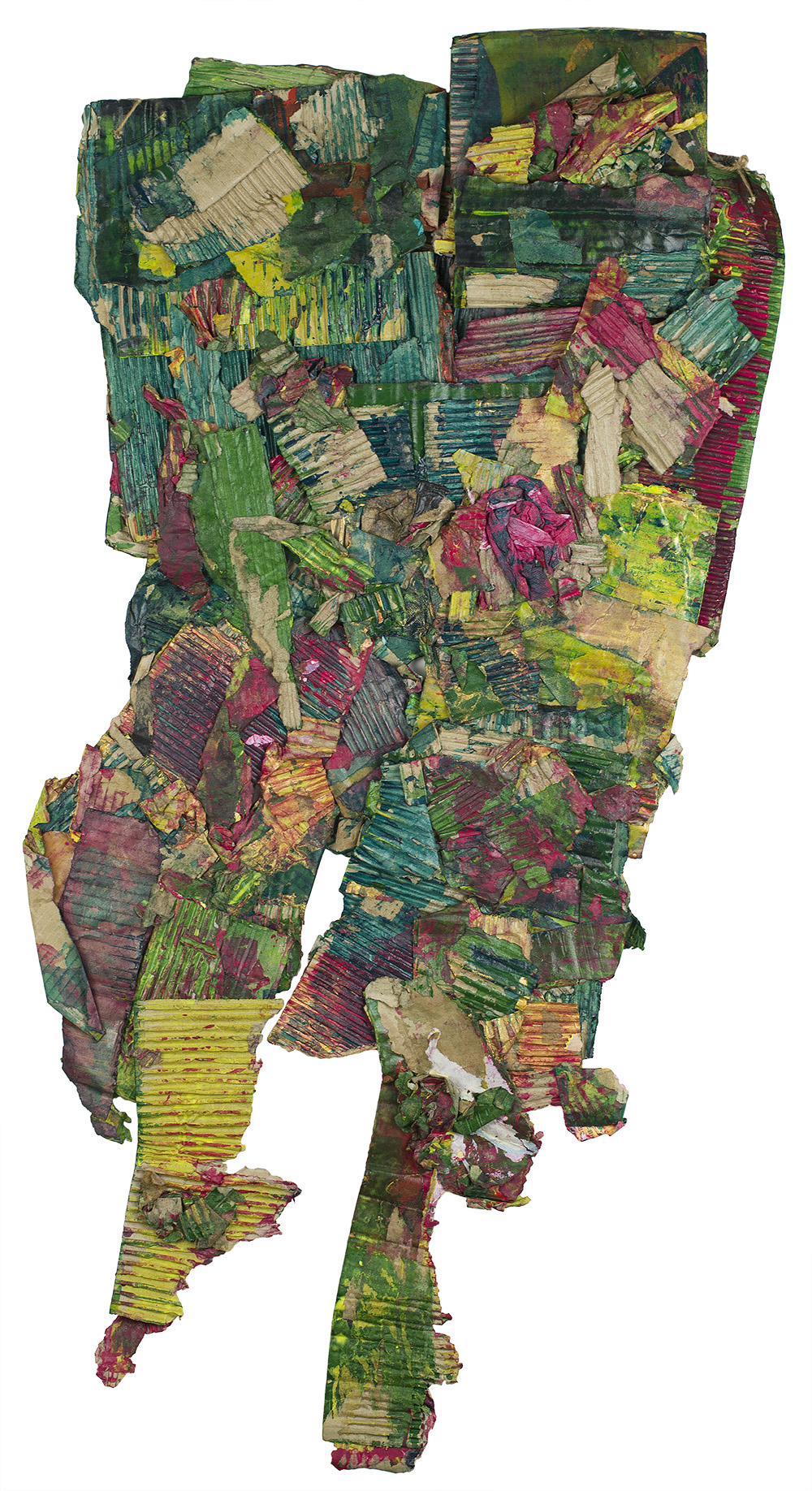 Katsuo Tokunaga    Plants   Collage 48 x 20 inches 121.9 x 50.8 cm KaT 1