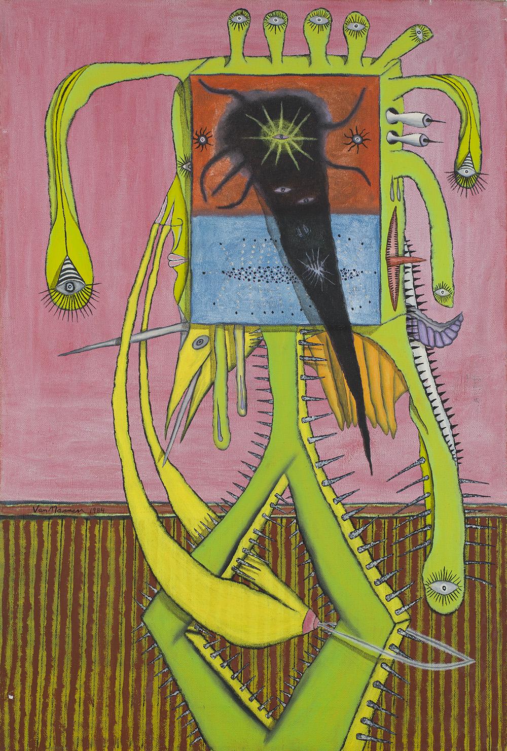 Gregory Van Maanen    Woman  , 5/1/1984 Acrylic on canvas 24 x 16 inches 61 x 40.6 cm GVM 98