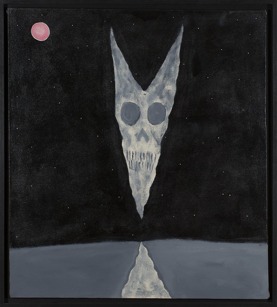 Gregory Van Maanen    Contact/Guardian Angel   Acrylic on canvas 37 x 32 inches 94 x 81.3 cm GVM 2480