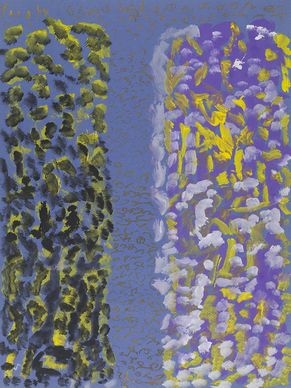 J.B. Murray    Untitled  , c. 1978-1988 Tempera, marker on paper 24 x 18 inches 61 x 45.7 cm JBM 435