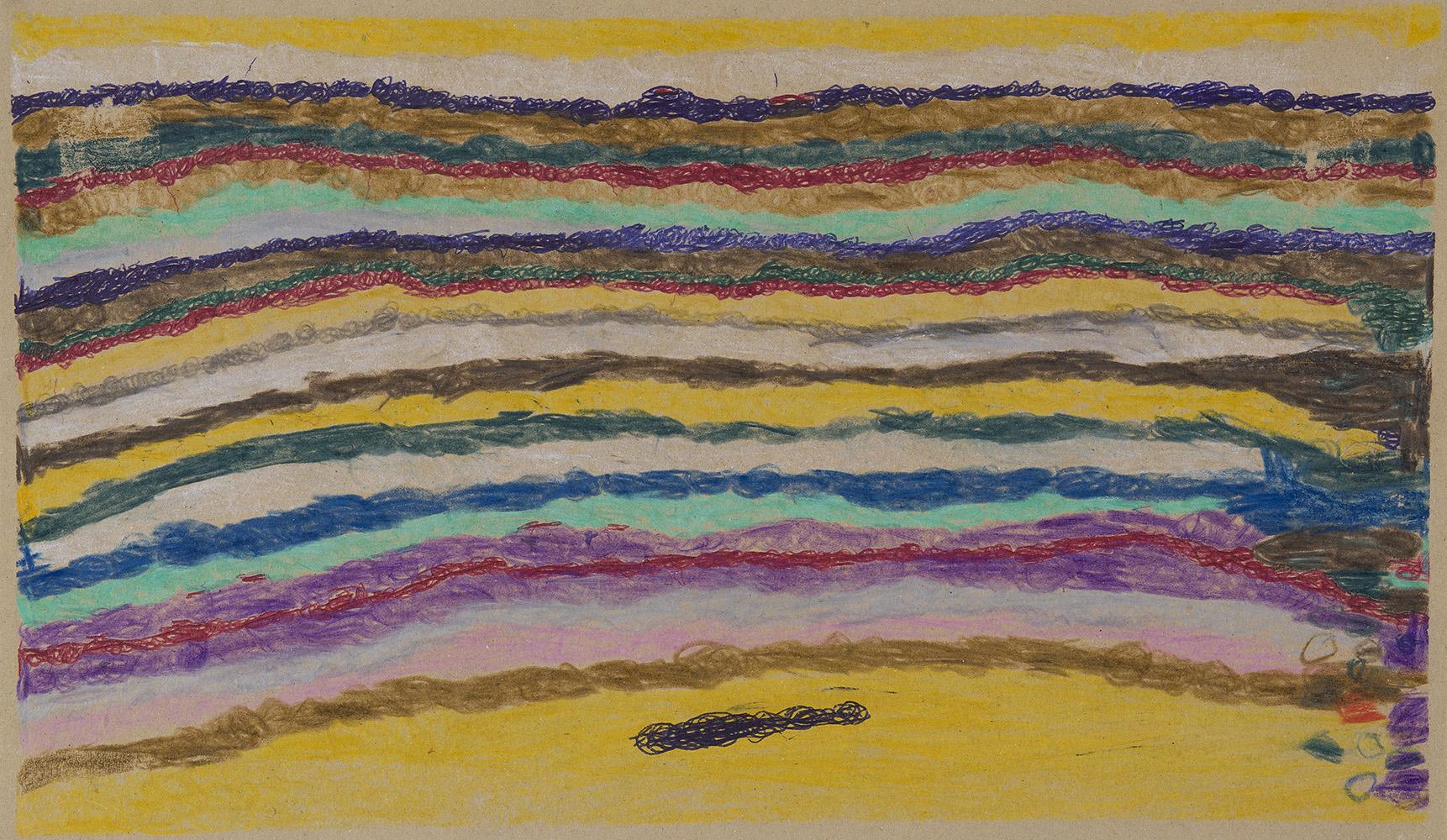 Joseph Lambert    Untitled  , 2012 Mixed media on cardboard 8.5 x 14.49 inches 21.6 x 36.8 cm JLam 4