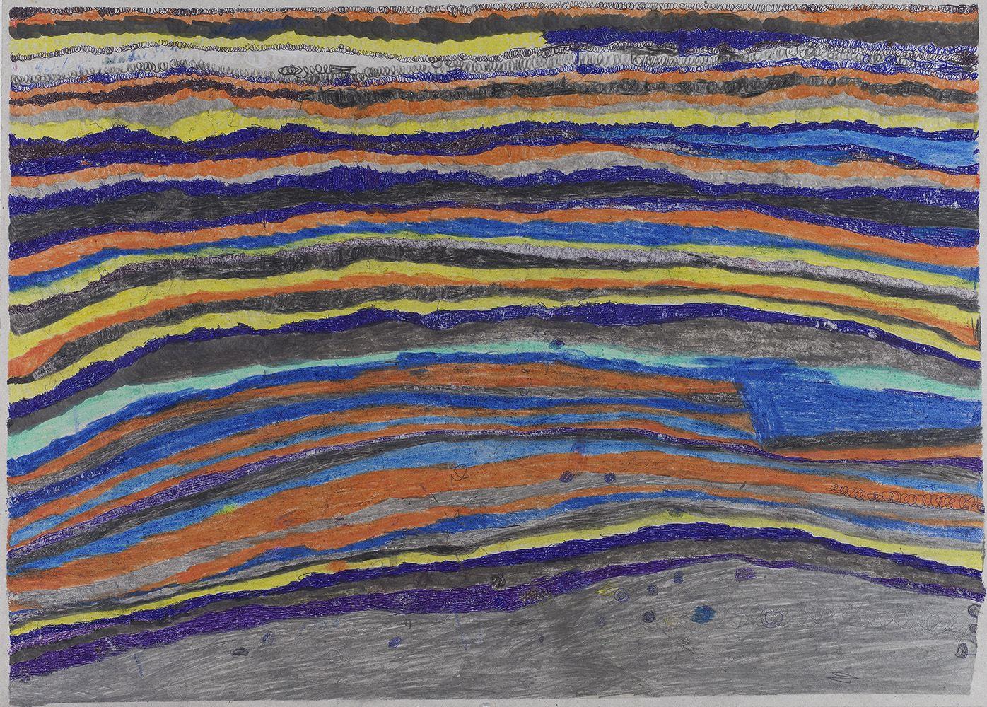Joseph Lambert    Untitled  , 2015 Mixed media on cardboard 19.69 x 27.56 inches 50 x 70 cm JLam 6