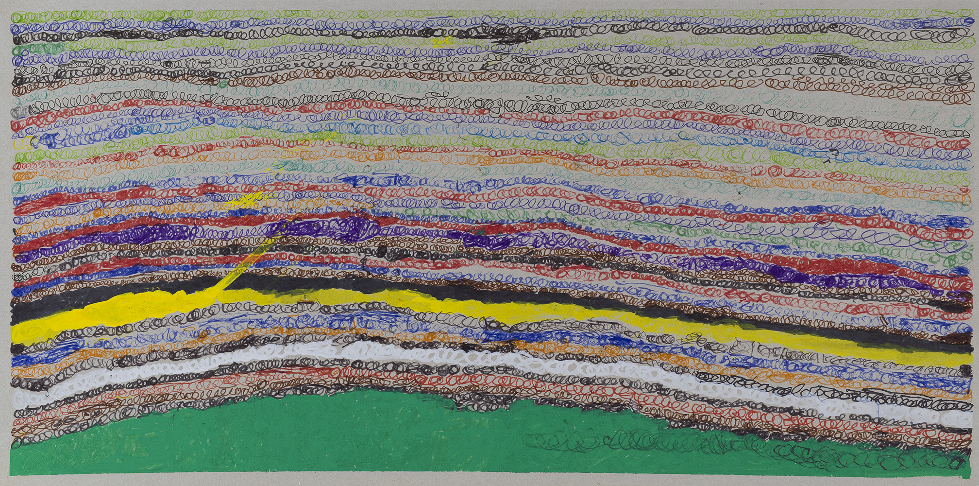 Joseph Lambert    Untitled  , 2014 Mixed media on paper 10.12 x 20.24 inches 25.7 x 51.4 cm JLam 11