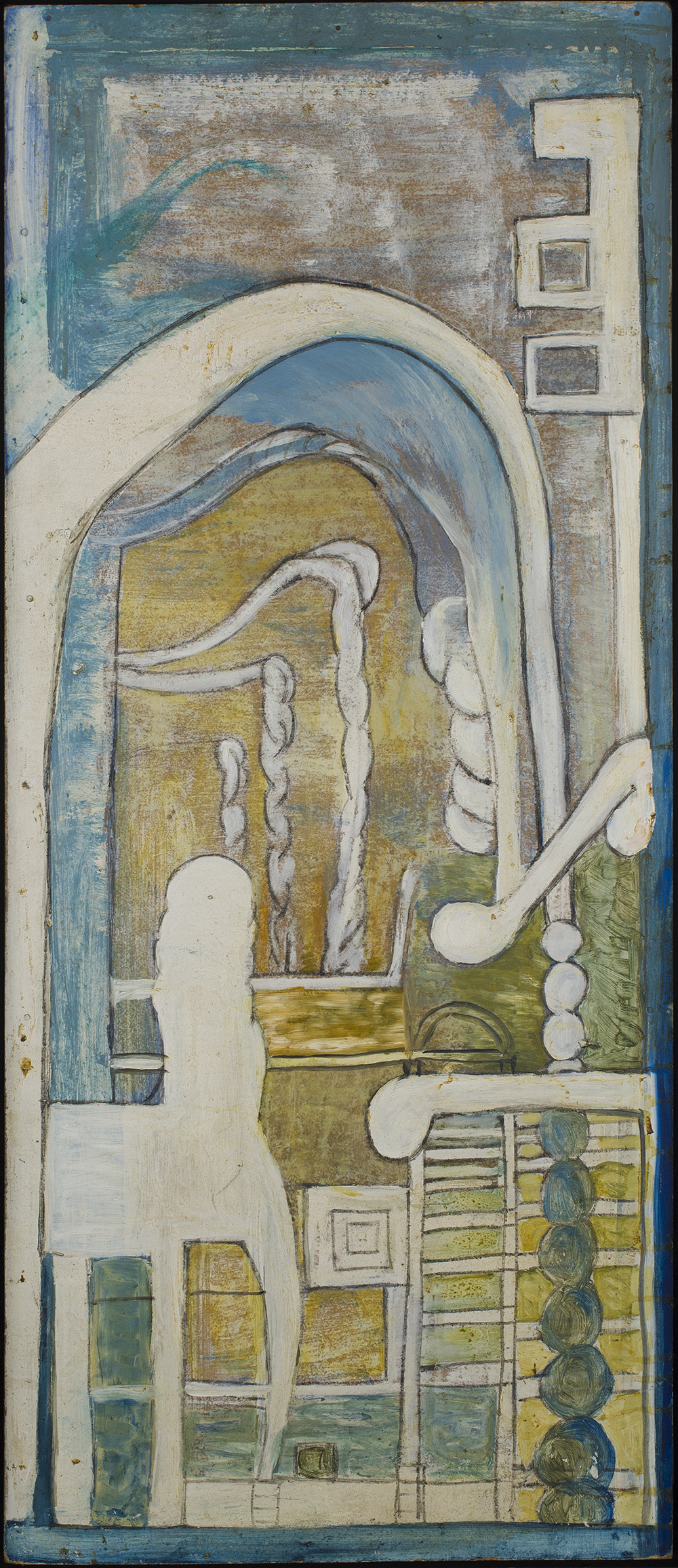Jon Serl    Tall Harmony  , n.d. Oil on board 42.5 x 18.5 inches 108 x 47 cm SJ 111