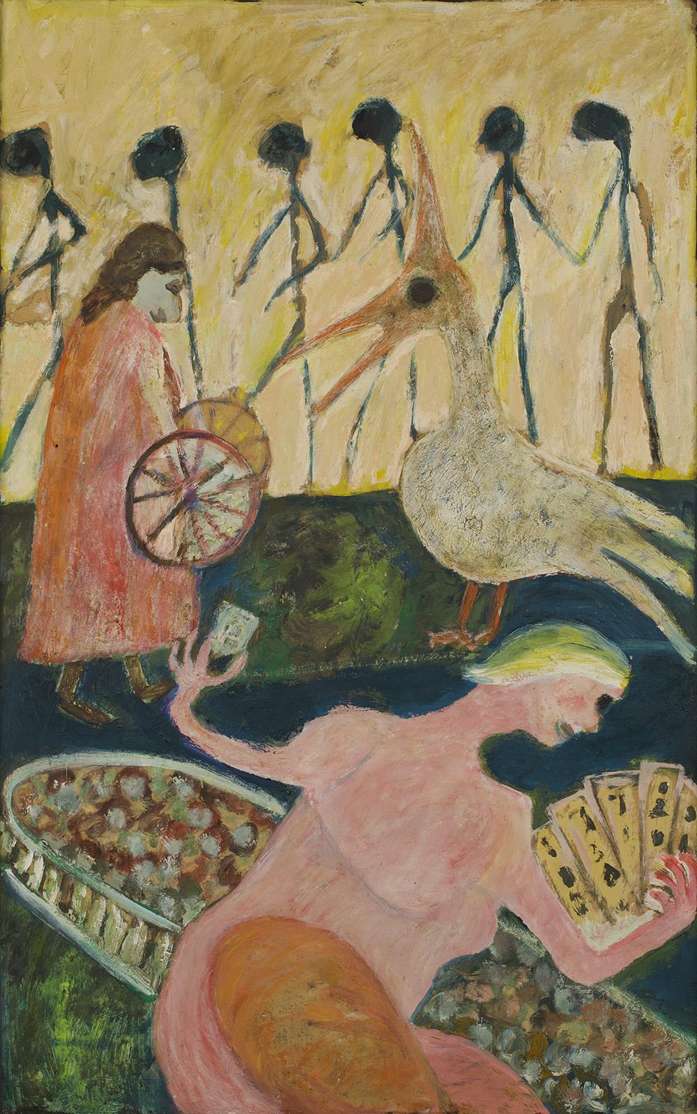 Jon Serl    Procession  , n.d. Oil on canvas 33 x 20 inches 83.8 x 50.8 cm SJ 492