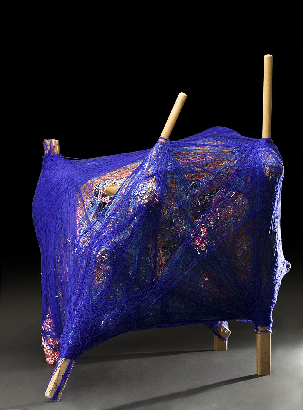 Tony Pedemonte    Untitled  , 2011 Fiber and wood 19 x 21 x 34 inches 48.3 x 53.3 x 86.4 cm TPed 22