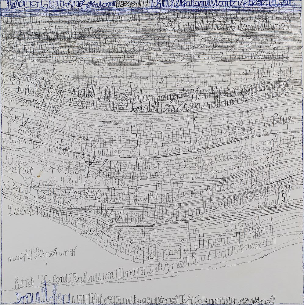 Harald Stoffers,    Brief 192  , August 12th, 2011, Ink on paper, 19.75 x 19.75 inches, 50.2 x 50.2 cm, HaS 21