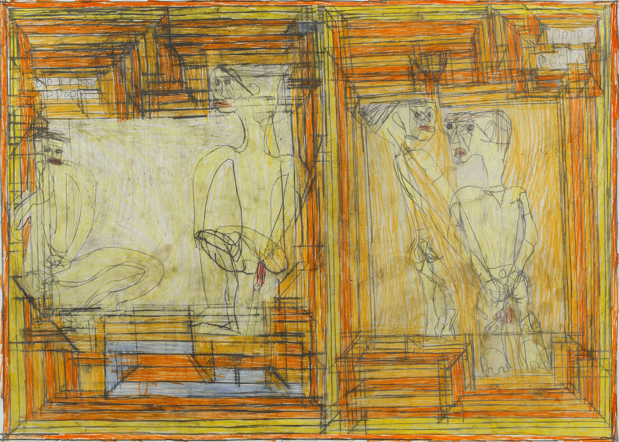 Josef Hofer Untitled, 2007 Pencil, colored pencil on paper 19.69 x 27.56 inches 50 x 70 cm JHo 33