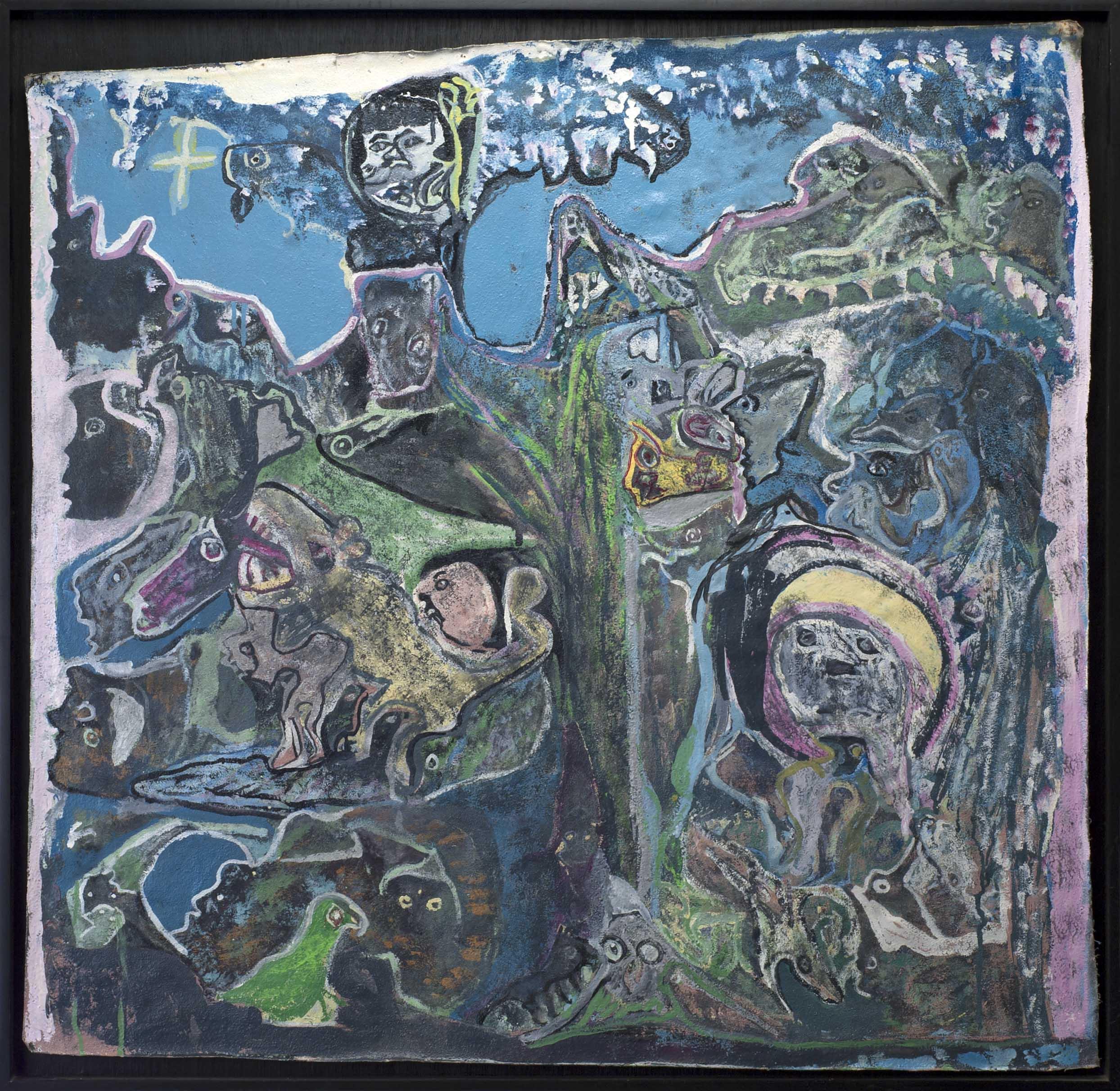 Leonard Daley Con Teng Qual Dalok Amanda, 1996 Mixed media on canvas 33.5 x 36.75 inches 85.1 x 93.3 cm LE 21