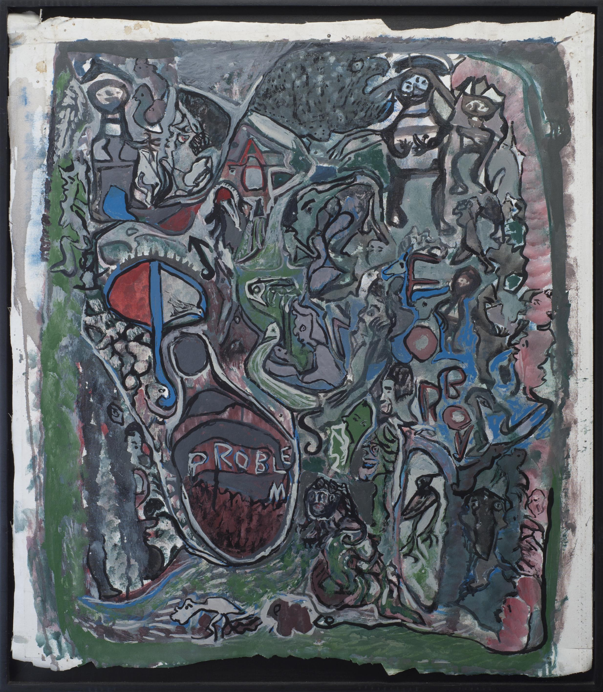Leonard Daley Problem, 1993 Oil on canvas 32 x 29 inches 81.3 x 73.7 cm LE 32