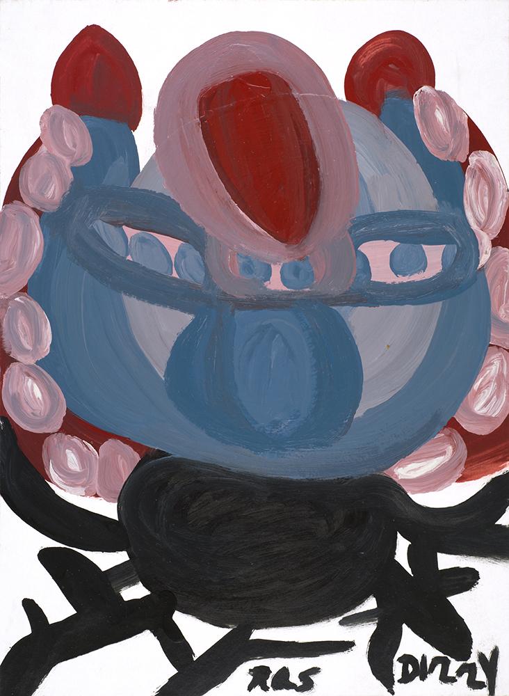 Ras Dizzy Creativity Arts Time, 1998 Tempera, oil on matboard 15.25 x 11 inches 38.7 x 27.9 cm RD 81