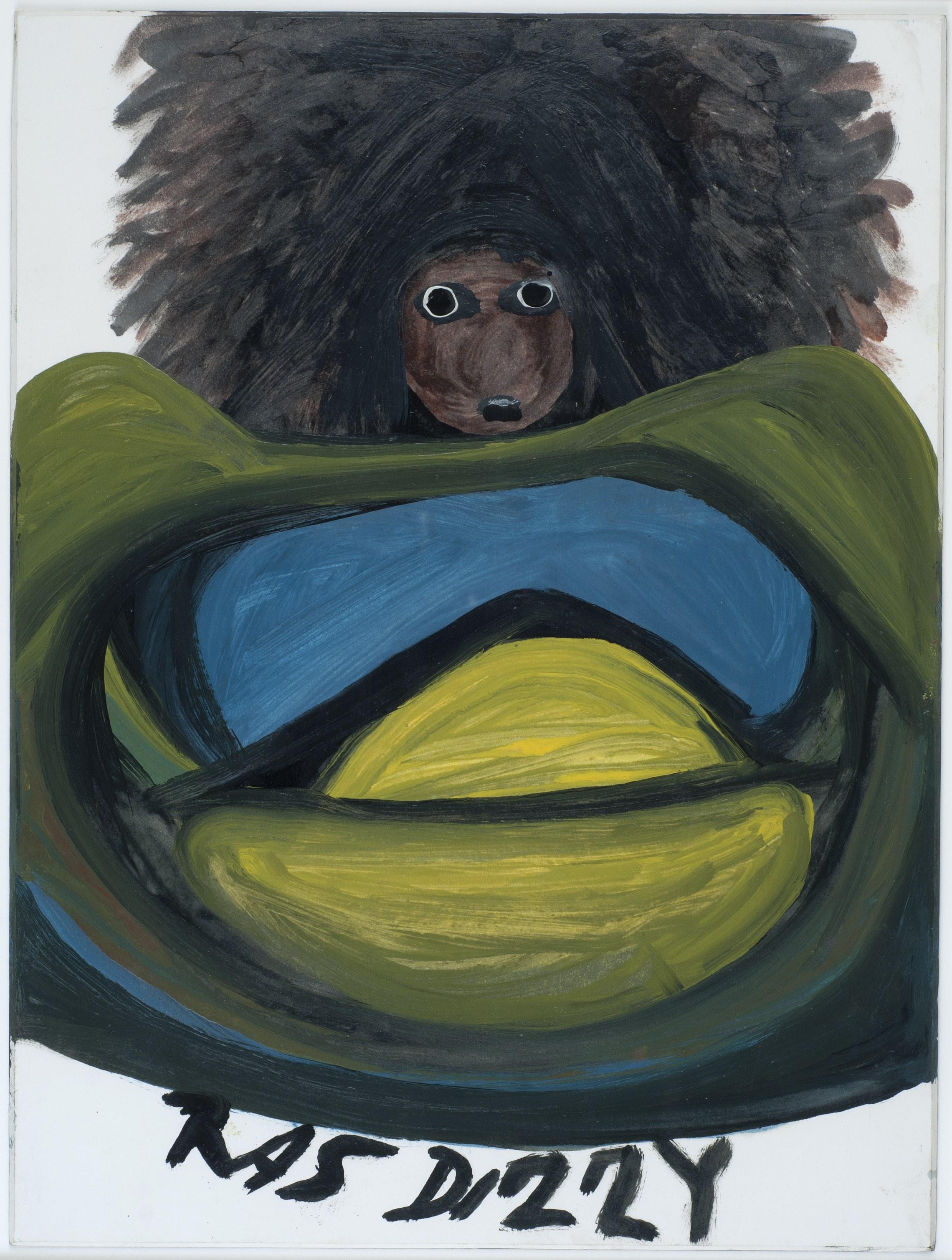 Ras Dizzy The Dread, 1998 Oil, tempera on matboard 14.25 x 10.75 inches 36.2 x 27.3 cm RD 98