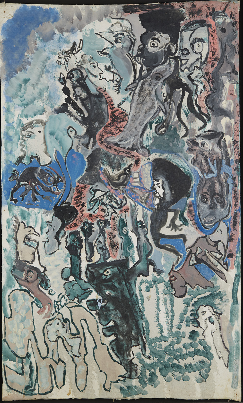 Leonard Daley Untitled, 1993 Mixed media on canvas 39 x 23.5 inches 99.1 x 59.7 cm LE 12