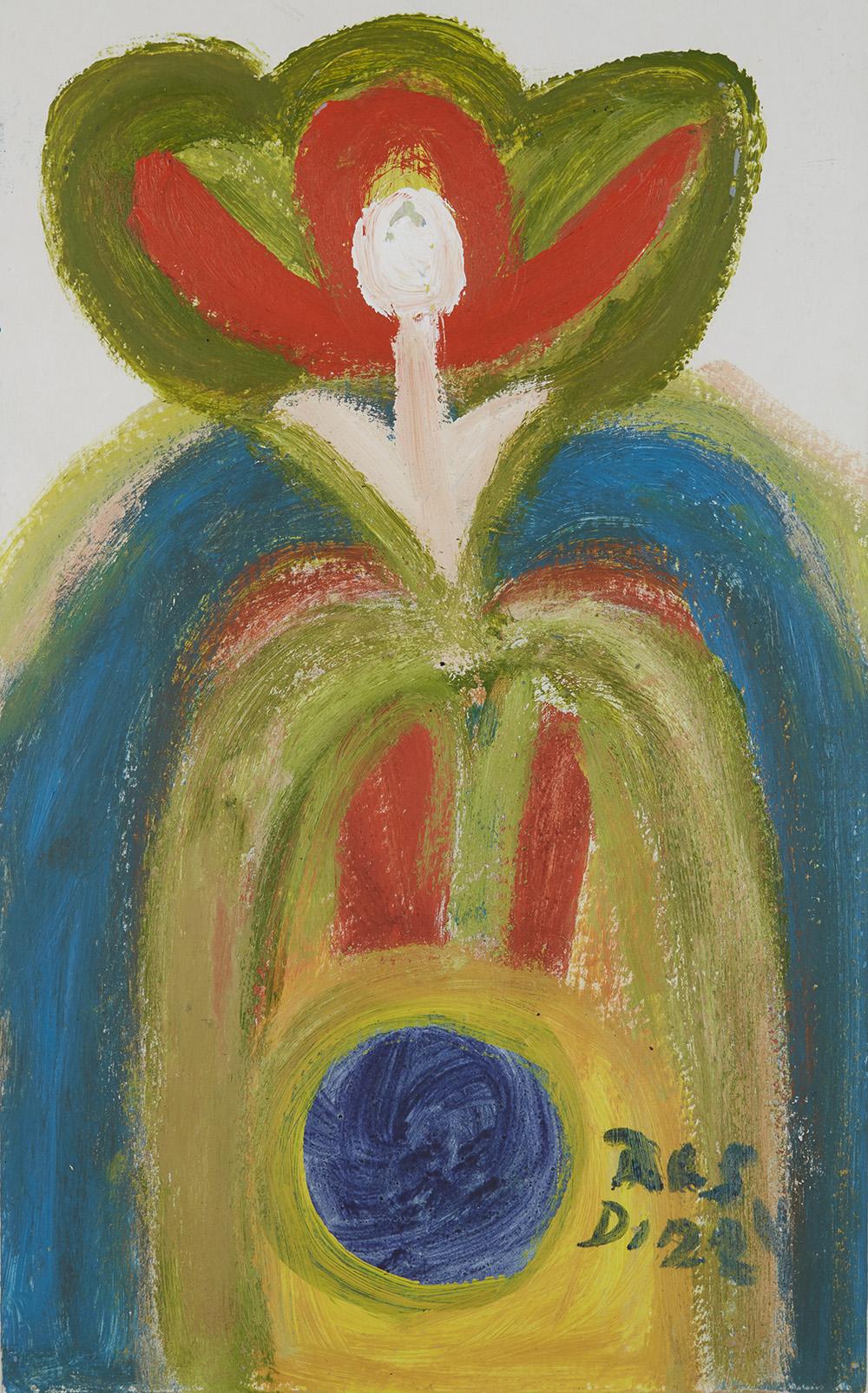 Ras Dizzy Rose Choice, 1997 Tempera on matboard 16.75 x 10.5 inches 42.5 x 26.7 cm RD 46