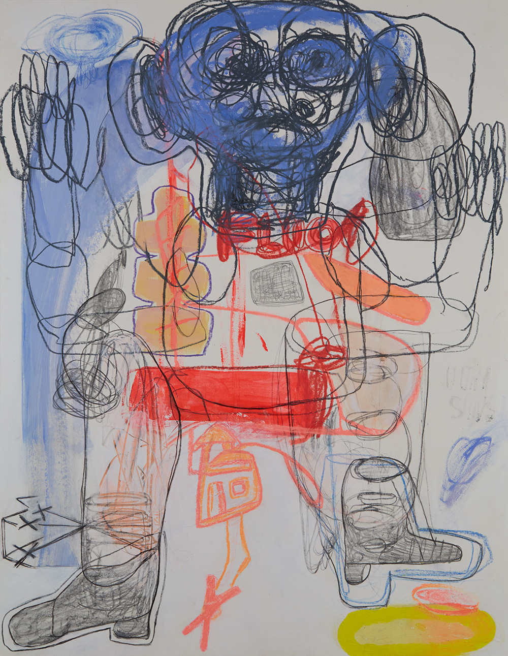 Caroline Demangel    Igor surpris par une giboulée  , 2016 Mixed media on paper 25.59 x 19.69 inches 65 x 50 cm CDm 32