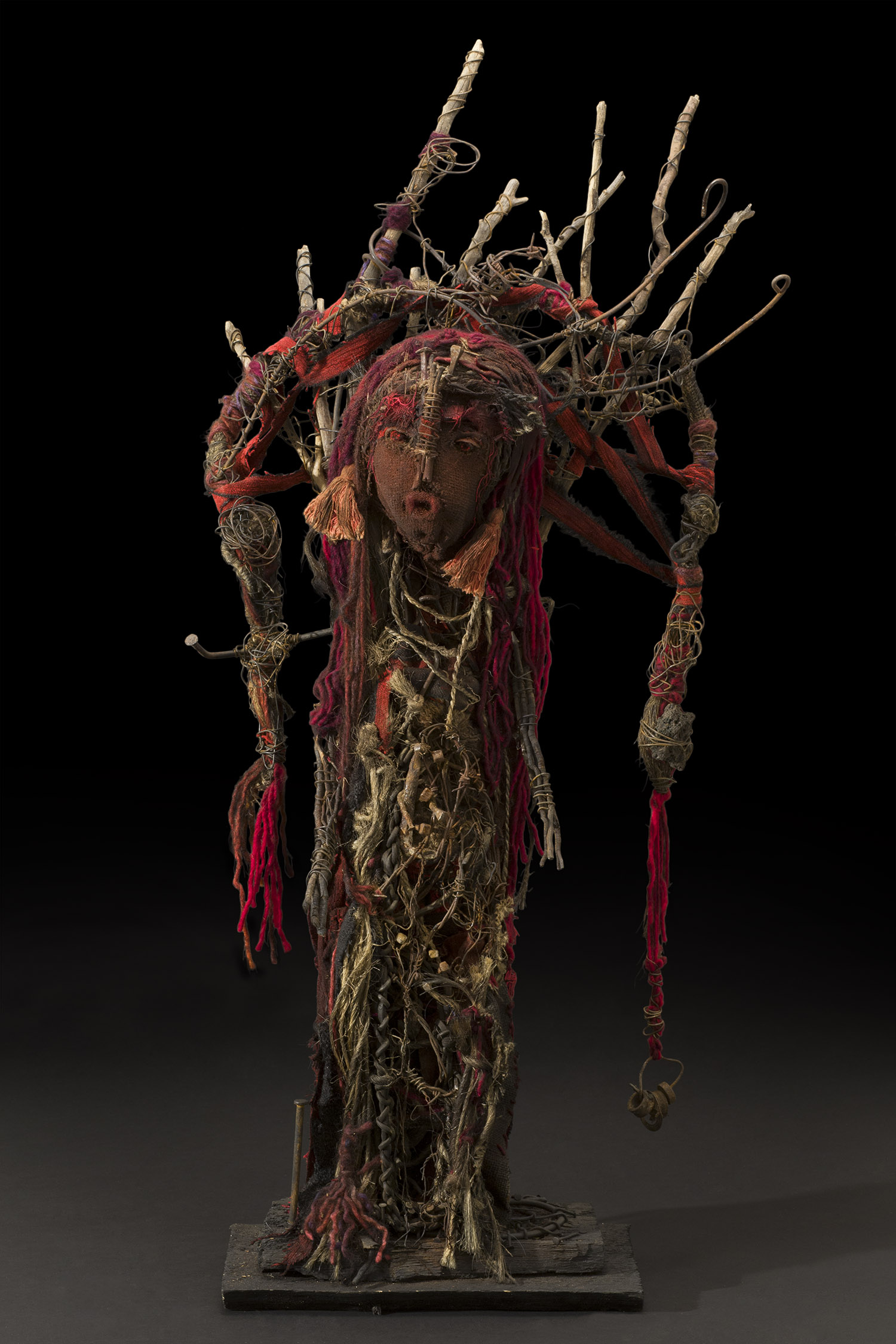 Sylvain and Ghyslaine Staëlens Personnage Soleil, 2014 Wood, metal, cloth, found objects 42 x 20 x 9.5 inches 106.7 x 50.8 x 24.1 cm GSS 30