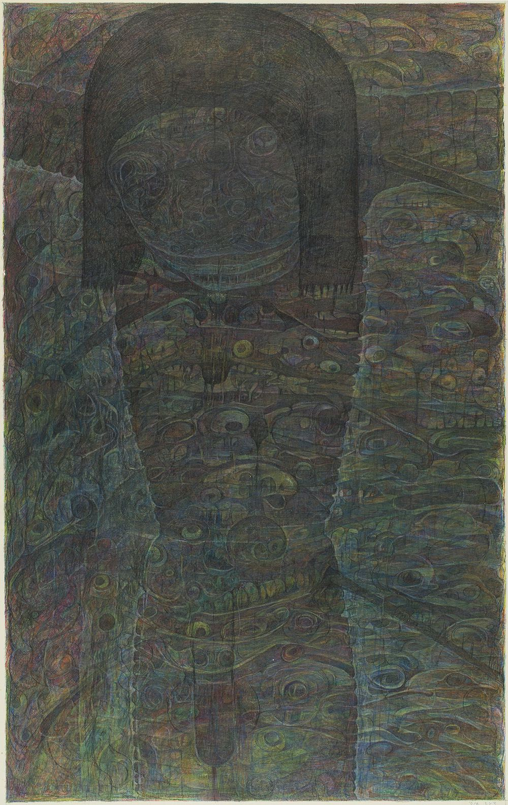 M'onma    Untitled  , 2000 Colored pencil on paper 29.72 x 18.7 inches 75.5 x 47.5 cm IMo 68