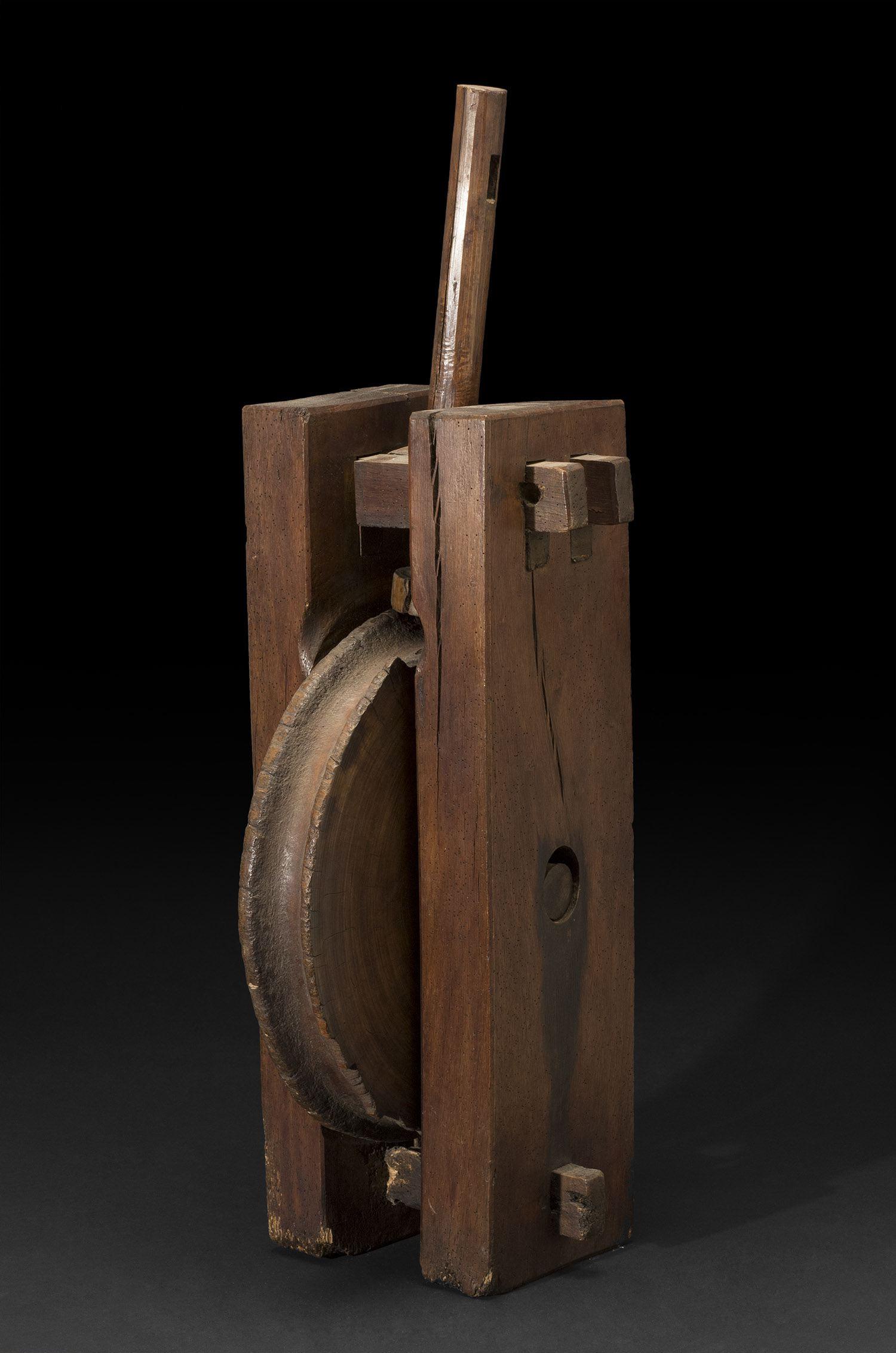 Japan    Well Wheel  , Early 20th Century Wood 33 x 14 x 10.5 inches 83.8 x 35.6 x 26.7 cm JA 648
