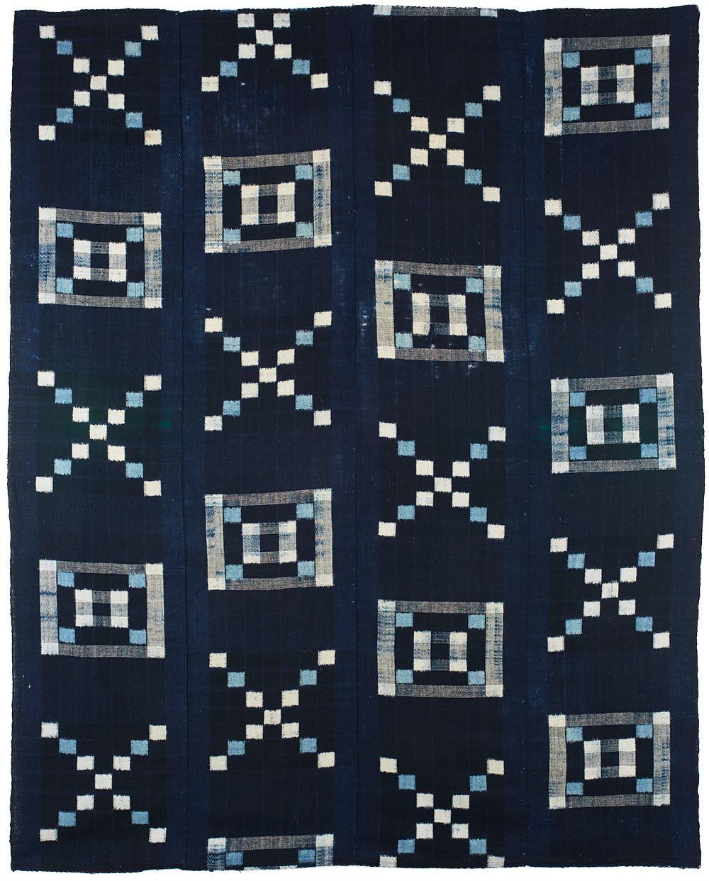Japanese Textiles    Futon Cover  , 20th century Indigo dye/cotton 62.5 x 50 in(158.8 x 127.0 cm) JTex 71