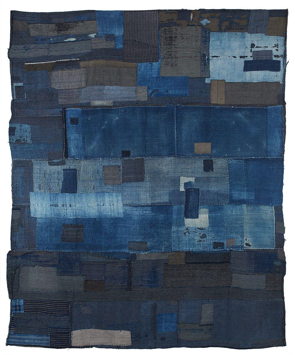 Japanese Textiles    Boro, Futon Cover  , 20th century Sashiko stitching/cotton 83 x 69 in(210.8 x 175.3 cm) JTex 98