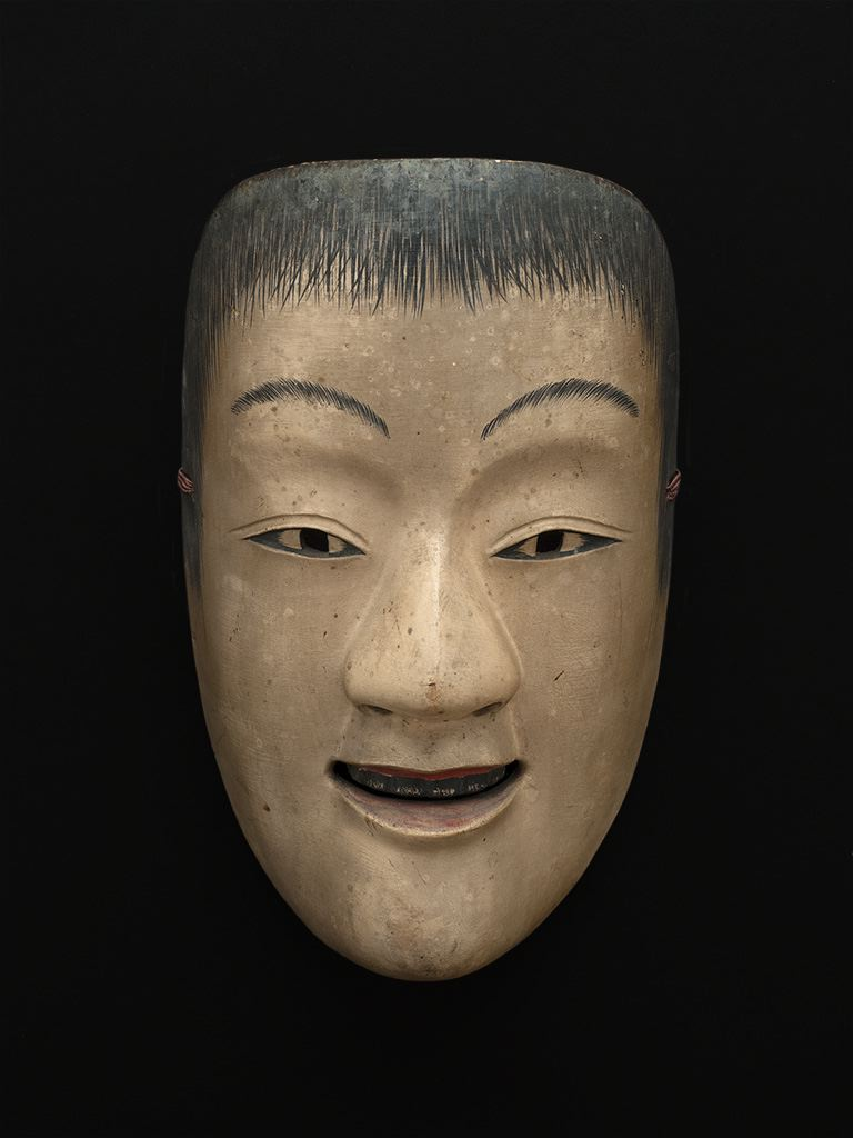 Masks    Japan - Noh Mask  , 19th C. Lacquered wood 8.5 x 5 x 3 inches 21.6 x 12.7 x 7.6 cm M 67