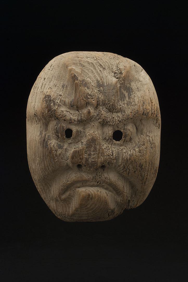 Masks    Japan - Shrine Mask  , 19th C. Wood 9 x 7 x 2.5 inches 22.9 x 17.8 x 6.4 cm M 111s