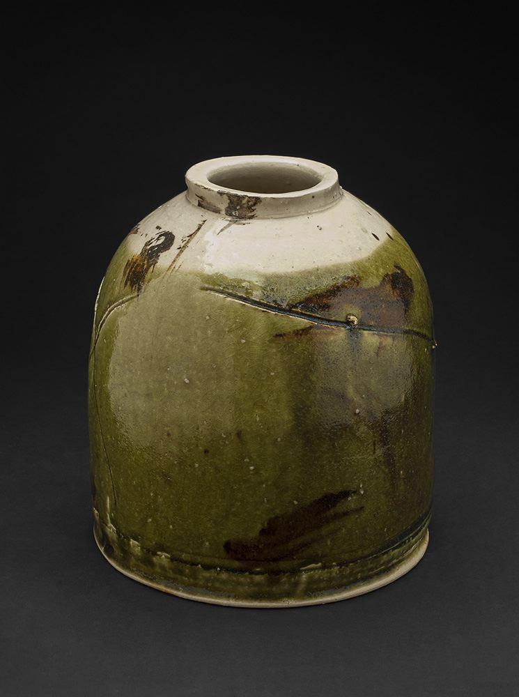 Ryoji Koie    Oribe Tsubo  , 2006 Stoneware 10 x 8.5 x 9 in(25.4 x 21.6 x 22.9 cm) RKo 6