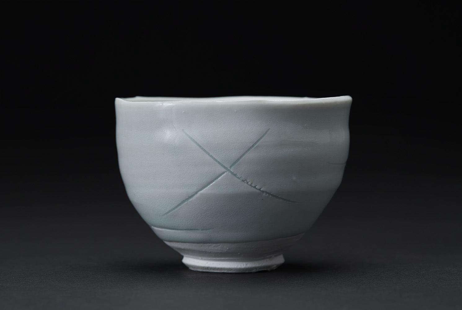 Ryoji Koie    Chawan  , 2010 Porcelain 5 x 4.75 x 3.5 inches 12.7 x 12.1 x 8.9 cm RKo 20