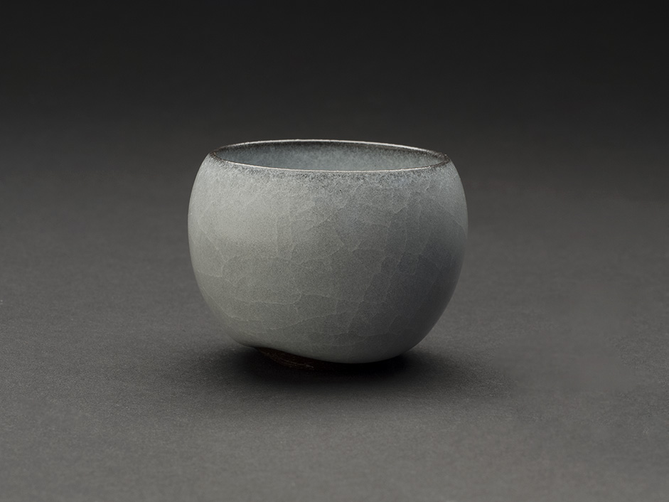 Takeshi Imaizumi    Guinomi  , 2013 Ceramic 1.61 x 2.09 x 2.13 inches 4.1 x 5.3 x 5.4 cm TIm 1