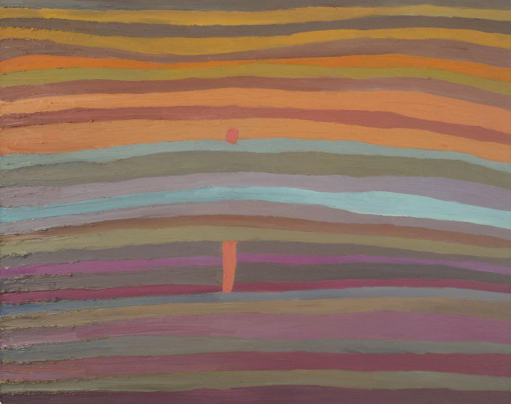 Takurou Shirai    Sunrise  , 2011 Oil on canvas 28.43 x 35.83 inches 72.2 x 91.0 cm TSh 1